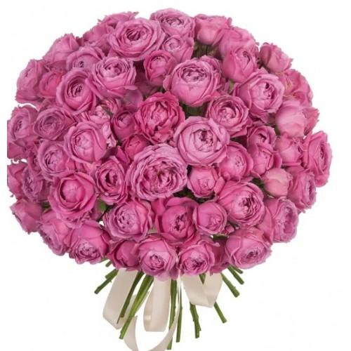 Букет з кущовими піоновидними трояндами Яскраві почуття