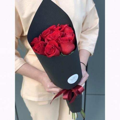 Букет з червоних троянд Пристрасний