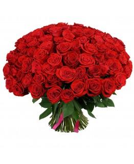 Букет з 101 червоної троянди Класика