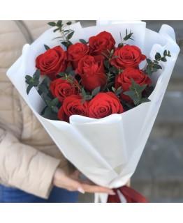 Букет з троянд і евкаліпта Маленький Париж