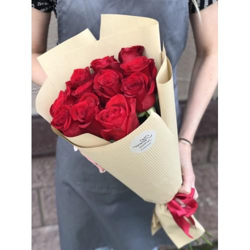 Букет з червоних троянд Проста романтика