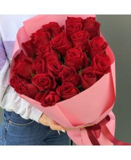 Букет з червоними трояндами Мерсі