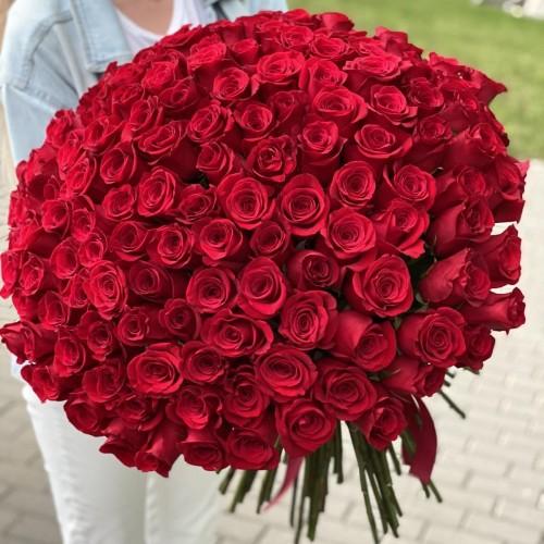 Букет з 151 червоної троянди