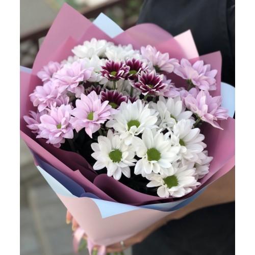 Букет із хризантем Сяюча посмішка