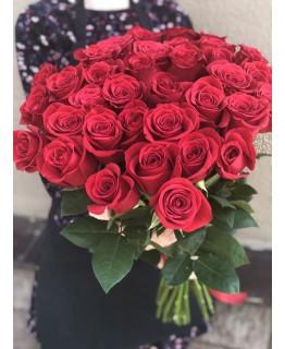 Роза червона 50 см