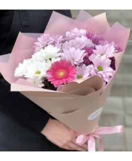 Букет з хризантеми і гербери Спогади про літо