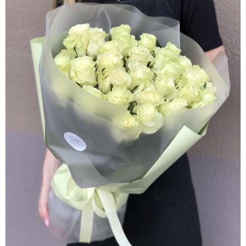 Букет з білих троянд Лайм