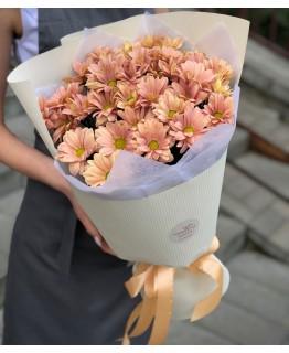 Букет із хризантем Карамель