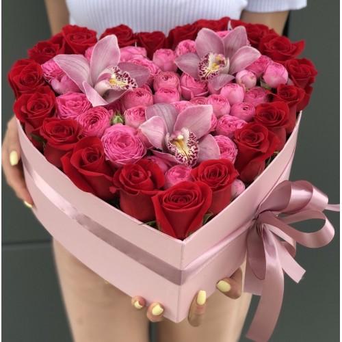 Серце з троянд № 5