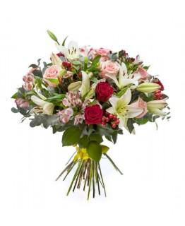 Букет з лілією і трояндою Ілюзия