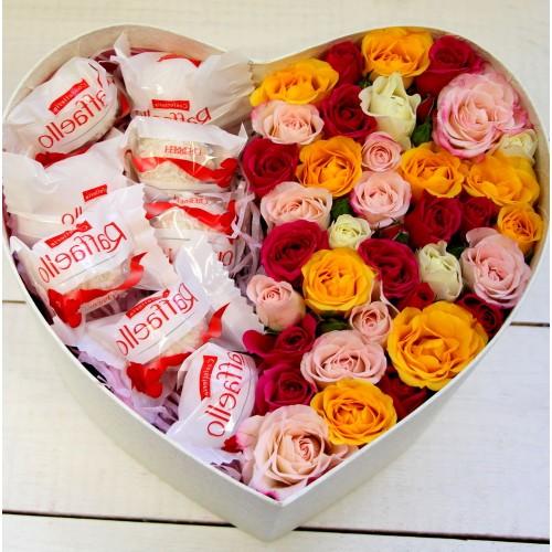 Серце з троянд і Рафаелло № 3