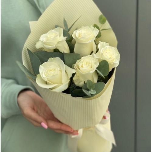 Букет з білих троянд Для тебе